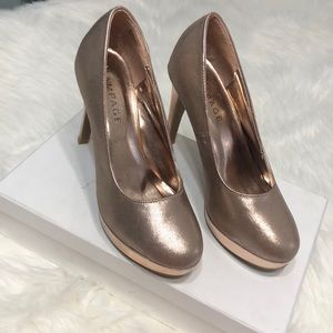 Rampage rose gold tone Sparkly heels size 8.5